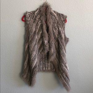 Bagatelle grey fur vest XS